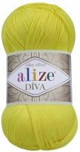 Пряжа Alize DIVA SILK EFFECT 110 лимон