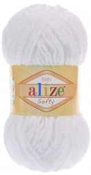 Пряжа Alize SOFTY 55 белый