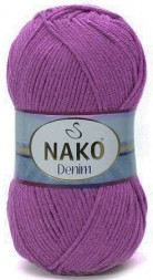 Пряжа Nako DENIM 6958 т.сирень
