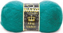 Пряжа Nako KING MOHER 11287 изумруд