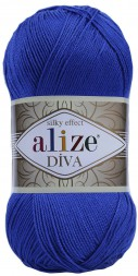 Пряжа Alize DIVA SILK EFFECT 132 василек