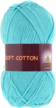 Пряжа Vita cotton SOFT COTTON 1809 св.гол.бирюза