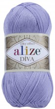 Пряжа Alize DIVA SILK EFFECT 158 лаванда