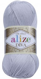 Пряжа Alize DIVA SILK EFFECT 168 св.серый