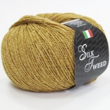 Пряжа Seam SILK TWEED 017 горчица