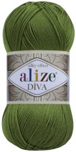 Пряжа Alize DIVA SILK EFFECT 210 оливка