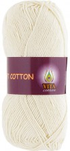 Пряжа Vita cotton SOFT COTTON 1817 молочный