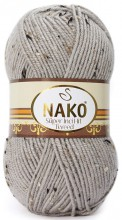 Пряжа Nako SUPER INCI HIT TWEED 11837 св.серый