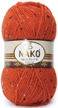 Пряжа Nako SUPER INCI HIT TWEED 4081 яр.рыжий