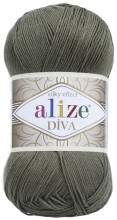 Пряжа Alize DIVA SILK EFFECT 273 хаки