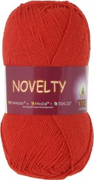 Пряжа Vita cotton NOVELTY 1213 яр.красный