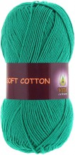Пряжа Vita cotton SOFT COTTON 1819 зел.бирюза