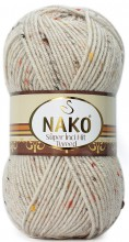Пряжа Nako SUPER INCI HIT TWEED 6383 св.беж