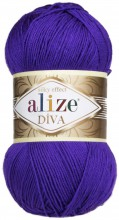 Пряжа Alize DIVA SILK EFFECT 252 фиолет