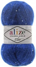 Пряжа Alize ANGORA GOLD STAR 141 василек
