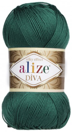 Пряжа Alize DIVA SILK EFFECT 453 т.изумруд