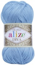 Пряжа Alize DIVA SILK EFFECT 346 гол.бирюза