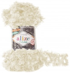 Пряжа Alize PUFFY FUR 6113 молочный