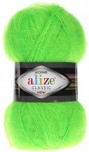 Пряжа Alize MOHAIR CLASSIC NEW 551 салат неон