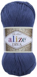 Пряжа Alize DIVA SILK EFFECT 353 джинс