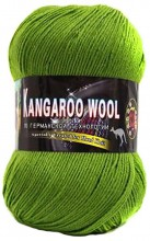 Пряжа Color City KANGAROO WOOL 2415 яр.зелень
