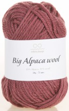 Пряжа Infinity Design BIG ALPACA WOOL 4053 т.сухая роза