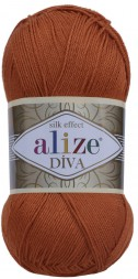 Пряжа Alize DIVA SILK EFFECT 36 терракот