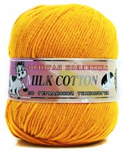 Пряжа Color City МИЛК КОТТОН (MILK COTTON) 042 желтый