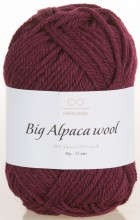 Пряжа Infinity Design BIG ALPACA WOOL 4654 бордовый