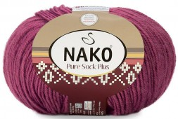 Пряжа Nako PURE SOCK PLUS 569 п.роза