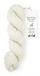 Пряжа Gazzal BABY ALPACA PURE COLOR 6450 белый
