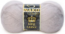 Пряжа Nako KING MOHER 11286 розовый беж