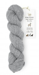 Пряжа Gazzal BABY ALPACA PURE COLOR 6452 серый