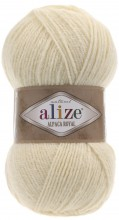 Пряжа Alize ALPACA ROYAL 01 кремовый