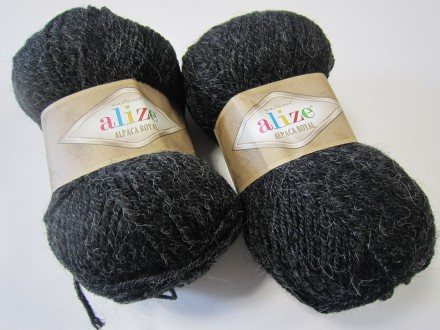 Пряжа Alize ALPACA ROYAL 151 антрацит
