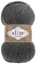 Пряжа Alize ALPACA ROYAL 182 т.серый
