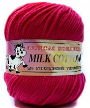 Пряжа Color City МИЛК КОТТОН (MILK COTTON) 010 красный