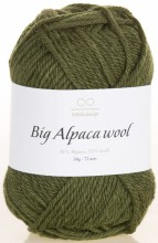 Пряжа Infinity Design BIG ALPACA WOOL 9573 т.хаки