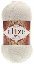 Пряжа Alize DIVA STRETCH 62 молочный