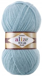 Пряжа Alize ANGORA REAL 40 PLUS 114 мята