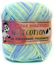 Пряжа Color City МИЛК КОТТОН (MILK COTTON) 012 гол/лимон