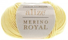 Пряжа Alize MERİNO ROYAL 187 св.лимон