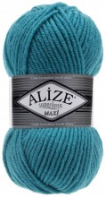 Пряжа Alize SUPERLANA MAXI 287 бирюза